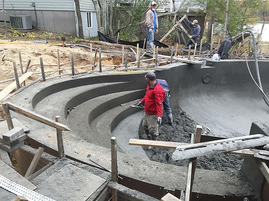 Swimming Pool Reinforcement : Swimming pool construction using basalt rebar guru