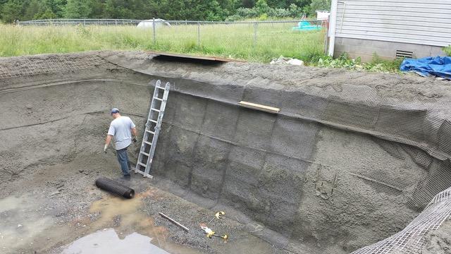 Basalt Mesh In Swimming Pool Construction Basalt Guru