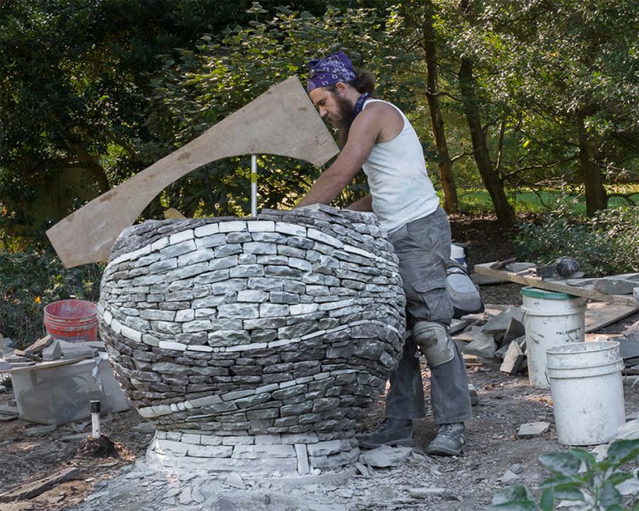 Basalt Stone Sculpture : Basalt rebar reinforces stone sculpture concrete