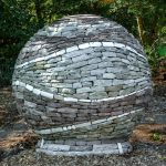 Basalt rebar reinforces stone sculpture concrete foundation