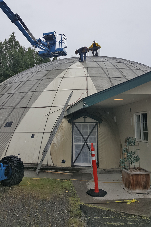 Lifeline Domes building in Soldotna Alaska