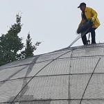 Lifeline Domes building with basalt mesh in Soldotna, Alaska